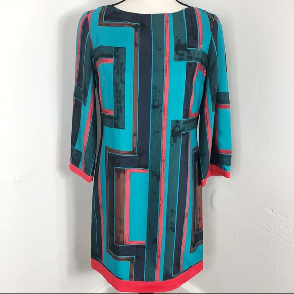 Eliza J Rectangle Print Shift Dress 4